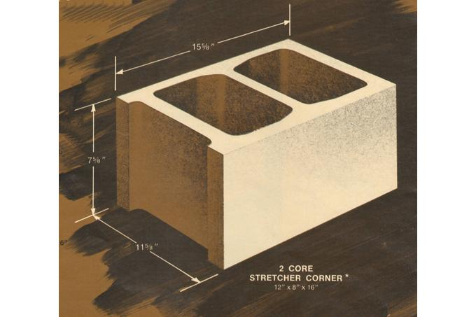 12 x 8 x 16 Concrete Block