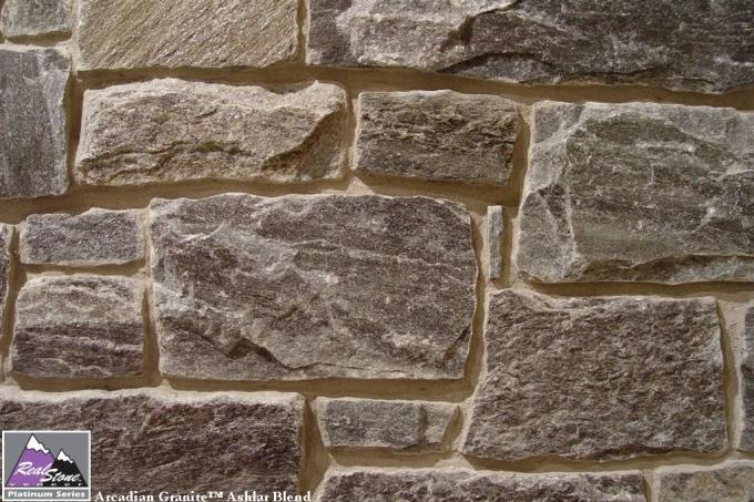 Real Stone Veneer Arcadian Granite Ashlar Blend