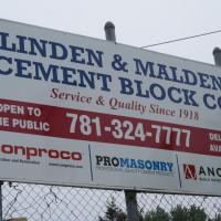 Linden & Malden Block Sign