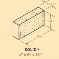 4 x 8 x 16 Solid Concrete Block