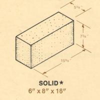 6 x 8 x 16 Solid Concrete Block