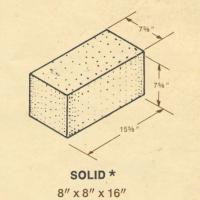 8 x 8 x 16 Solid Concrete Block
